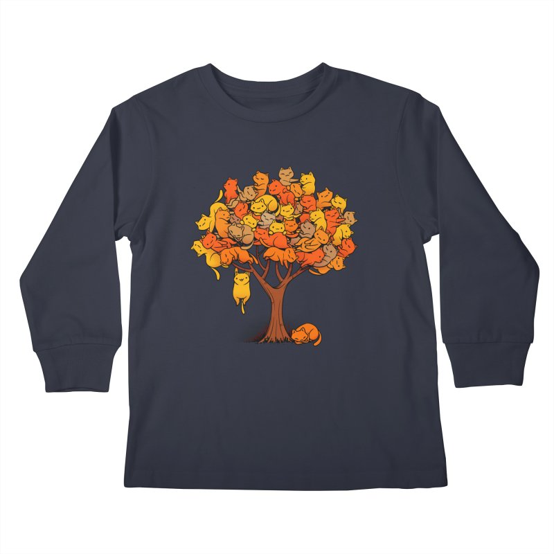 Cat Tree Kids Longsleeve T-Shirt by Tobe Fonseca's Artist Shop