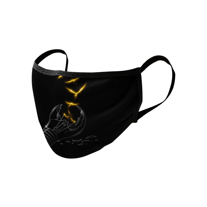 Freedom Light Bird Accessories Face Mask by Tobe Fonseca's Artist Shop