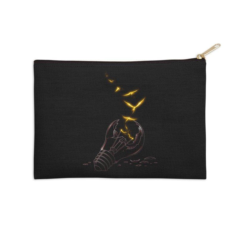Freedom Light Bird Accessories Zip Pouch by Tobe Fonseca's Artist Shop