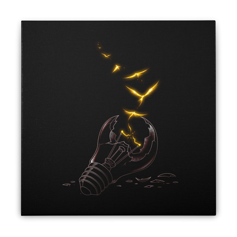 Freedom Light Bird Home Stretched Canvas by Tobe Fonseca's Artist Shop