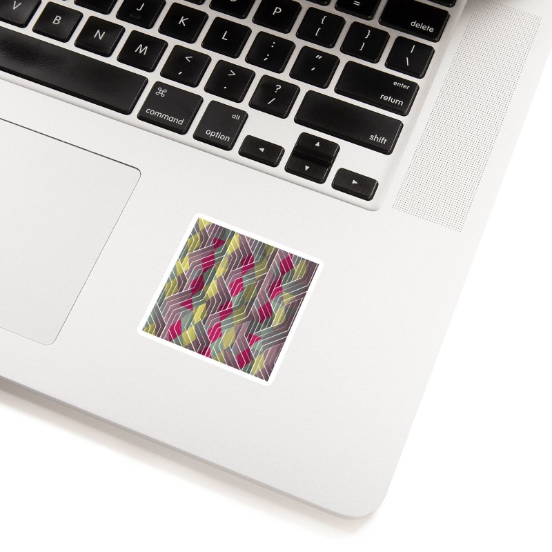 Decorative Pattern Triangles Accessories Sticker by Tobe Fonseca's Artist Shop