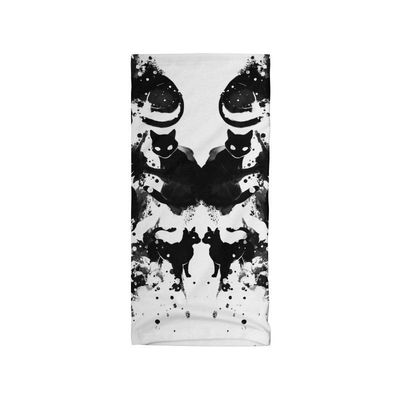 Rorschach Test Cat's On My Mind Accessories Neck Gaiter by Tobe Fonseca's Artist Shop