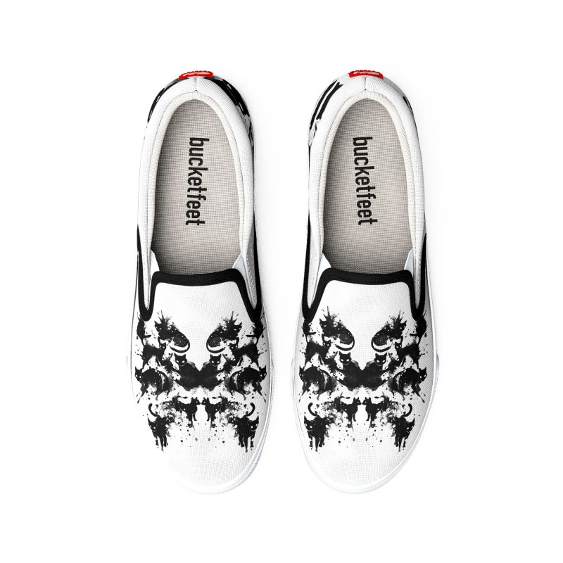 Rorschach Test Cat's On My Mind Women's Shoes by Tobe Fonseca's Artist Shop