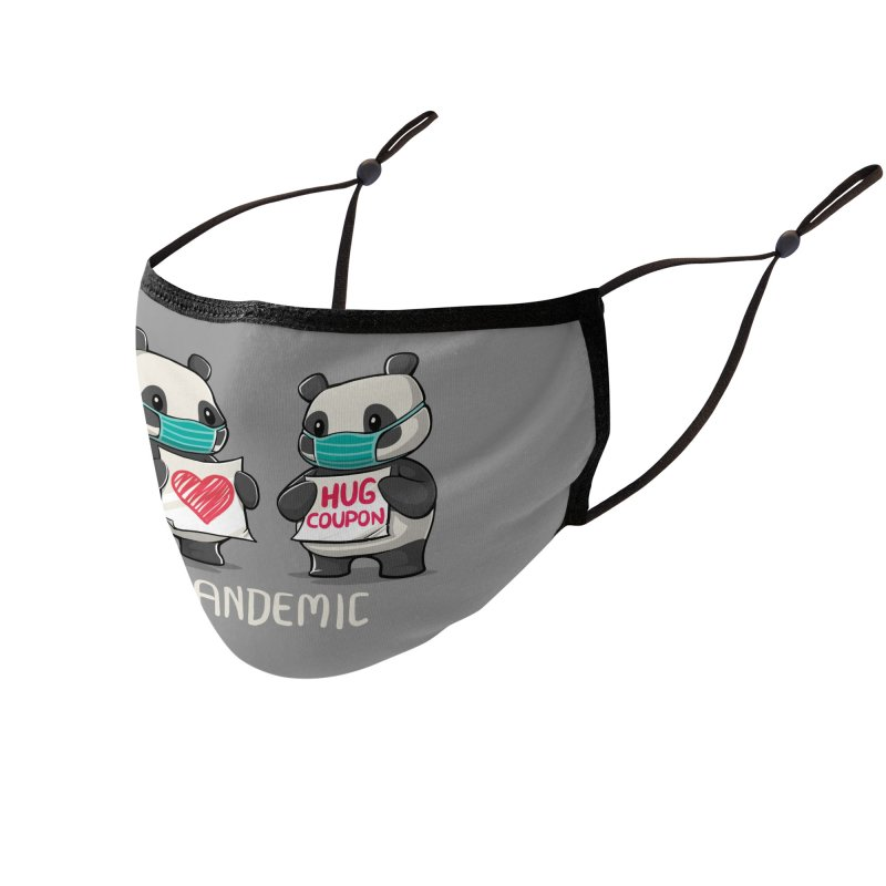 Pandemic - social distancing but always close to my heart Accessories Face Mask by Tobe Fonseca's Artist Shop