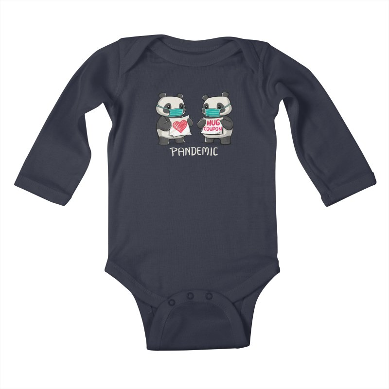 Pandemic - social distancing but always close to my heart Kids Baby Longsleeve Bodysuit by Tobe Fonseca's Artist Shop