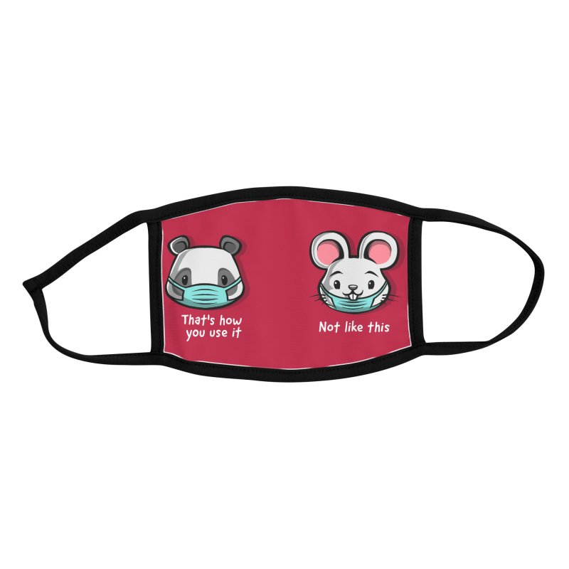 How not to wear a face mask animals cute funny Accessories Face Mask by Tobe Fonseca's Artist Shop