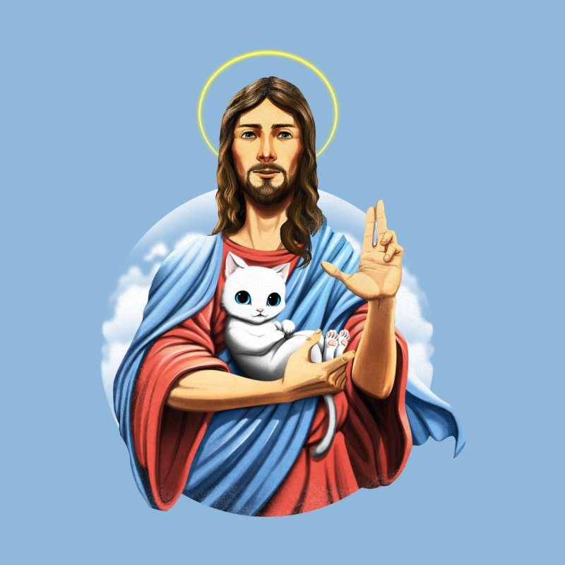 Jesus Cat Home Blanket by Tobe Fonseca's Artist Shop