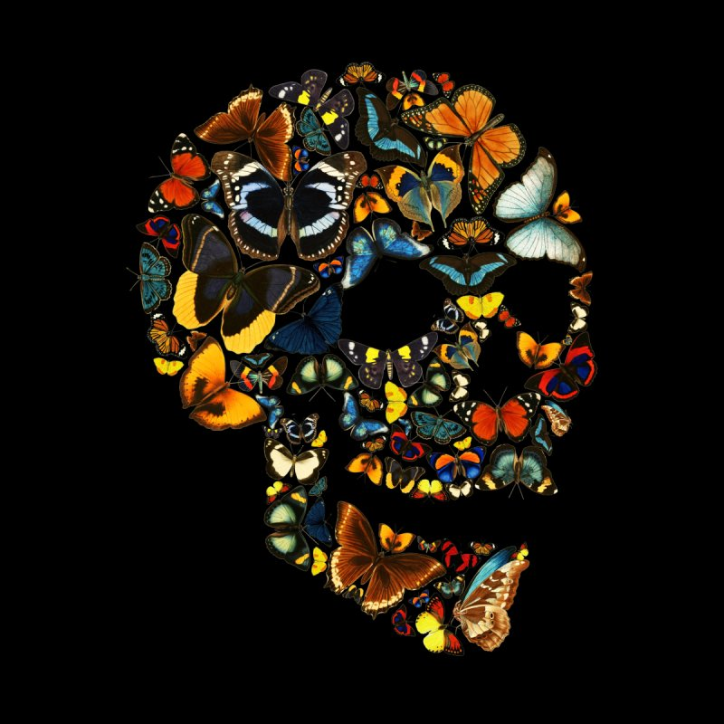 Butterfly Skull Vintage Accessories Skateboard by Tobe Fonseca's Artist Shop