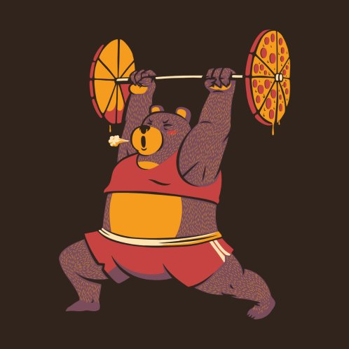 Design for Squat Bear Gym I Love to Eat Pizza