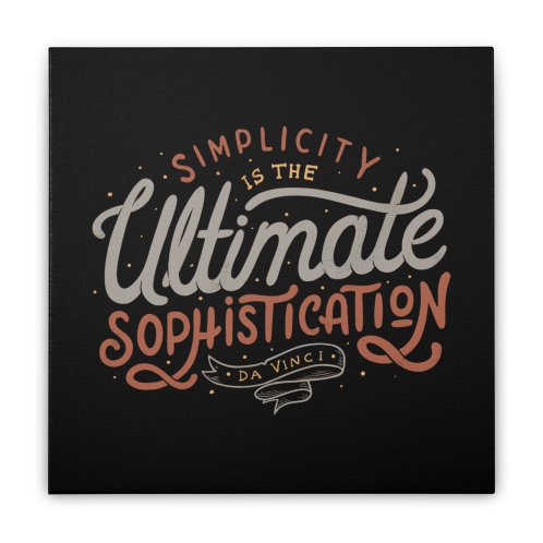 image for Simplicity is The Ultimate Sophistication