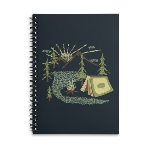 image for Camping Inside a Book I love to Read Illustration Made With Letters