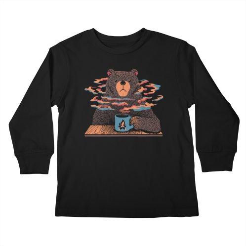 image for Bear Having Coffee I Love Coffee Blue