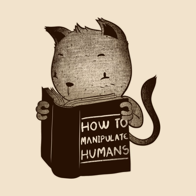 Cat Book Wow To Manipulate Humans   by Tobe Fonseca's Artist Shop