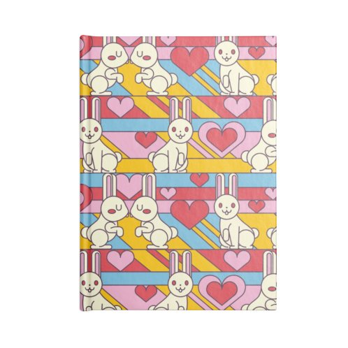image for Pattern White Bunnies W Hearts