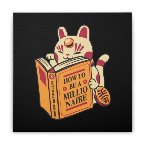 image for Maneki-Neko How to be a Millionaire Cat Black Design