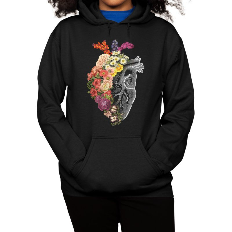 Flower Heart Spring Women's Pullover Hoody by Tobe Fonseca's Artist Shop
