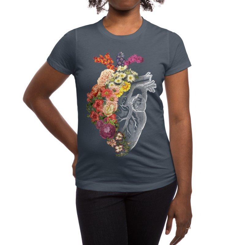 Flower Heart Spring Women's T-Shirt by Tobe Fonseca's Artist Shop
