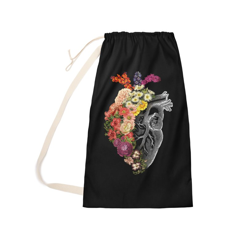 Flower Heart Spring Accessories Bag by Tobe Fonseca's Artist Shop