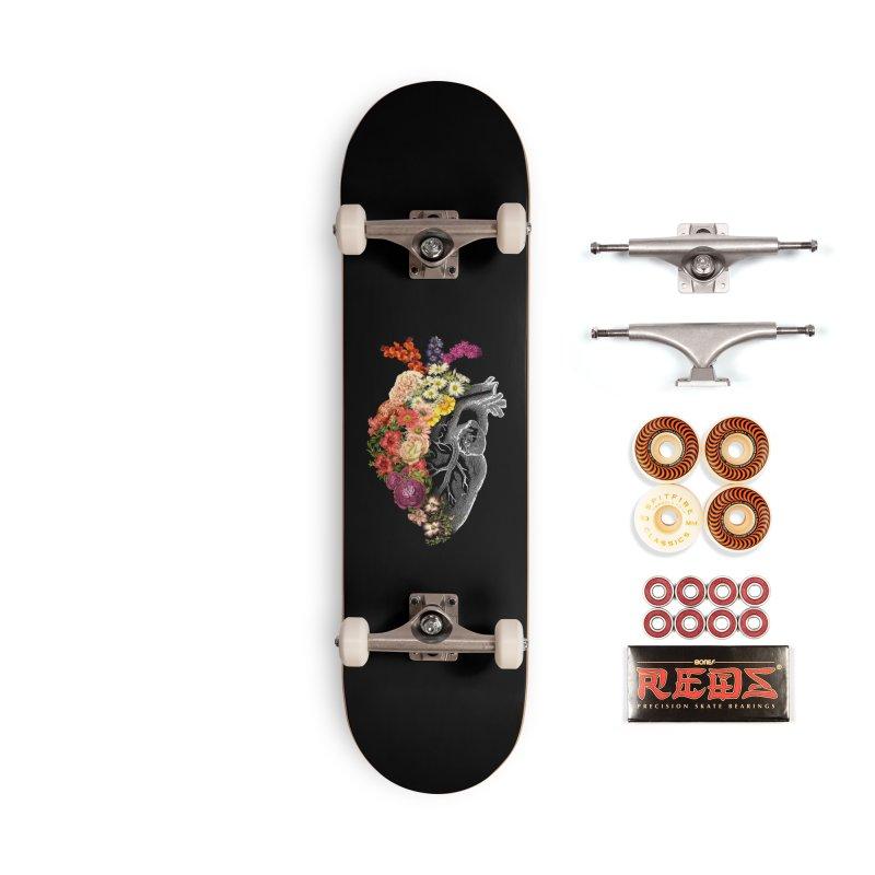 Flower Heart Spring Accessories Skateboard by Tobe Fonseca's Artist Shop
