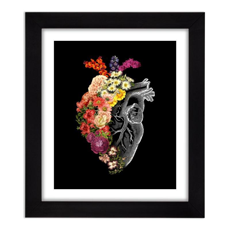 Flower Heart Spring Home Framed Fine Art Print by Tobe Fonseca's Artist Shop