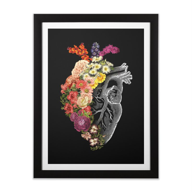 Flower Heart Spring Home Framed Fine Art Print by Tobe Fonseca's Artist Shop