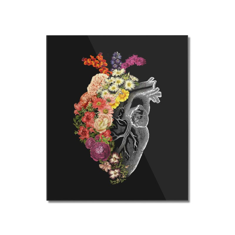 Flower Heart Spring Home Mounted Acrylic Print by Tobe Fonseca's Artist Shop