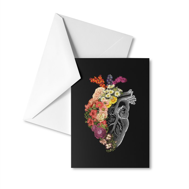 Flower Heart Spring Accessories Greeting Card by Tobe Fonseca's Artist Shop