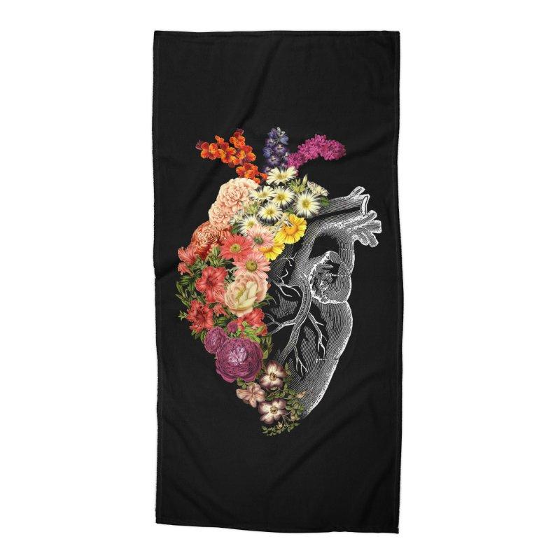 Flower Heart Spring Accessories Beach Towel by Tobe Fonseca's Artist Shop