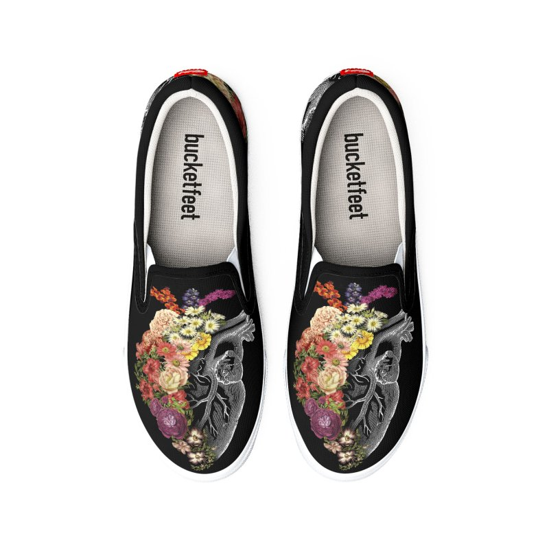 Flower Heart Spring Women's Shoes by Tobe Fonseca's Artist Shop