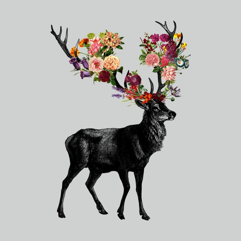 Spring Itself Deer Floral None  by Tobe Fonseca's Artist Shop