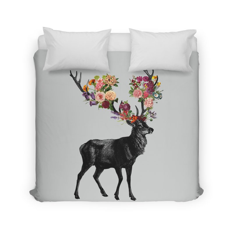 Spring Itself Deer Floral   by Tobe Fonseca's Artist Shop
