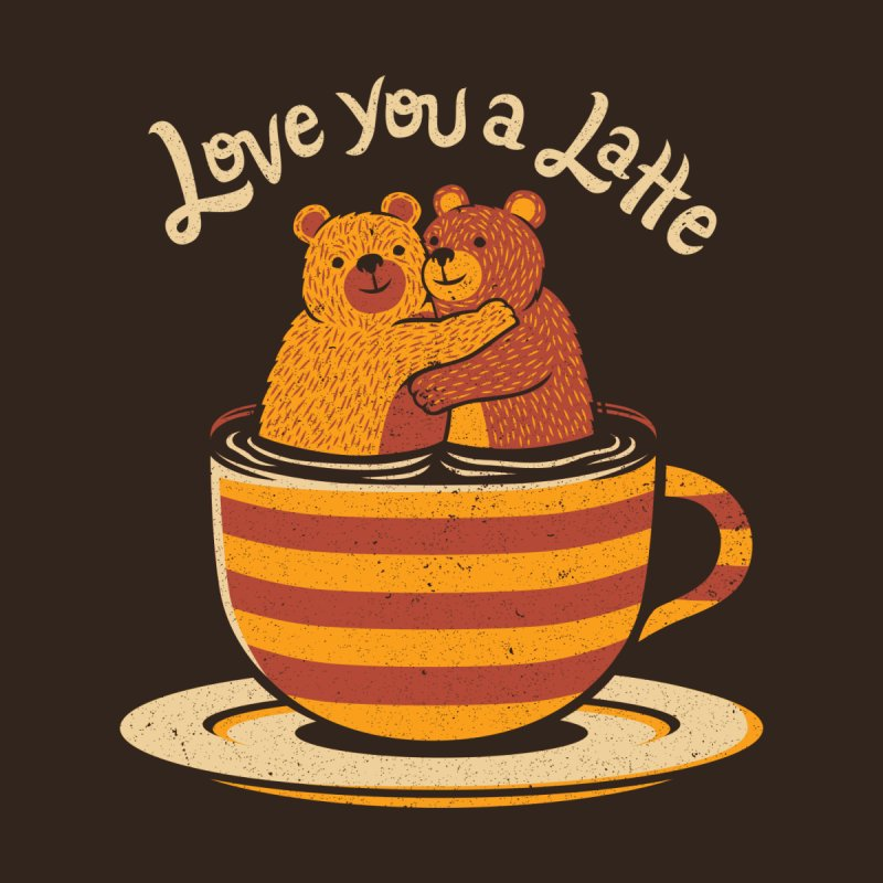 I Love You a Latte Bears Valentine Men's T-Shirt by Tobe Fonseca's Artist Shop