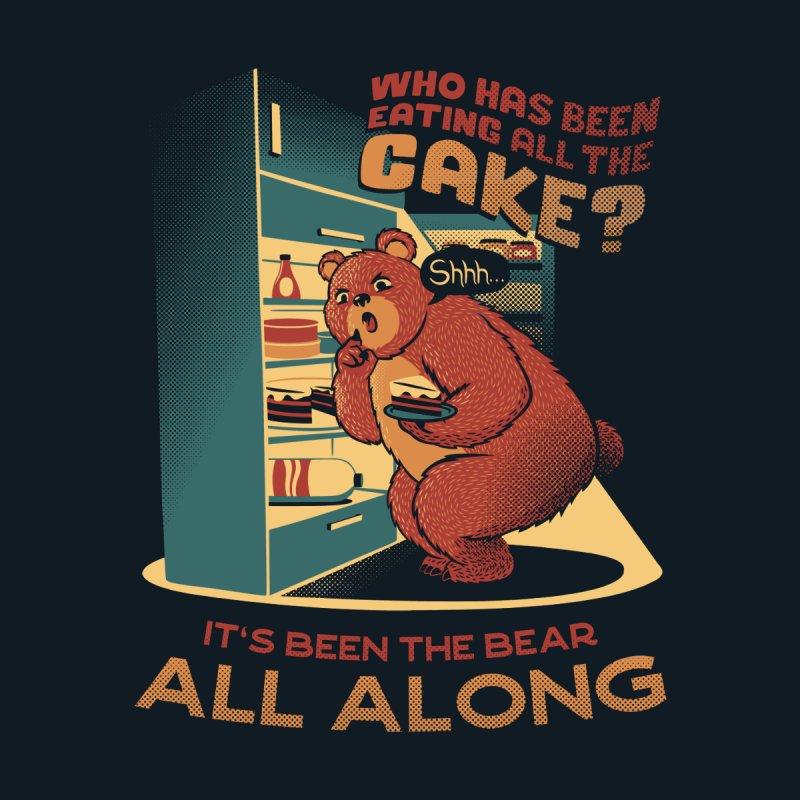 The fridge is a lie raid the fridge bear eating cake Kids Baby T-Shirt by Tobe Fonseca's Artist Shop