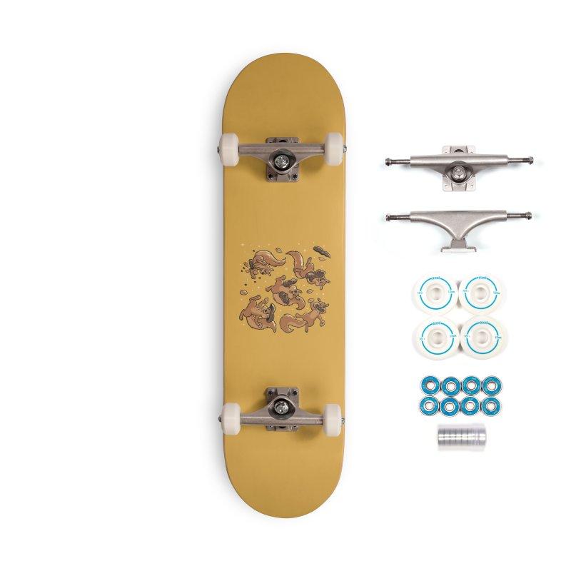 Peanut Cute Squirrels Yellow Accessories Skateboard by Tobe Fonseca's Artist Shop