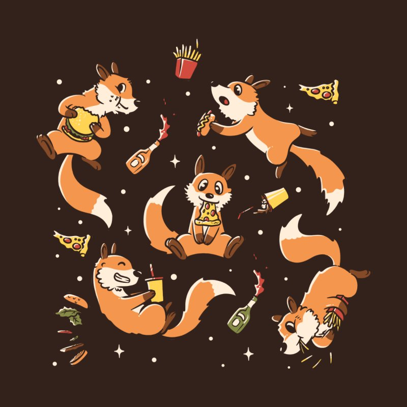 Fast Food Foxes Accessories Skateboard by Tobe Fonseca's Artist Shop