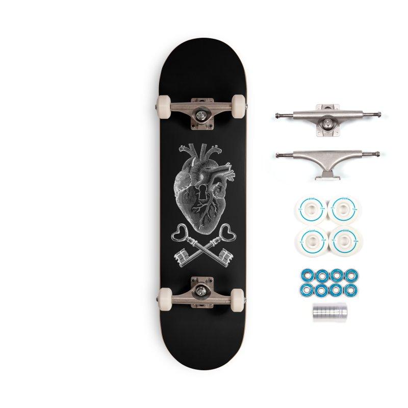 Keyhole Pirate Heart Accessories Skateboard by Tobe Fonseca's Artist Shop