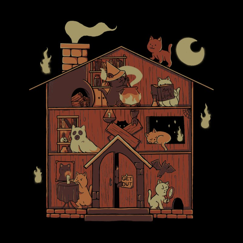 Haunted House Cat Ghost Blackmagic Men's T-Shirt by Tobe Fonseca's Artist Shop