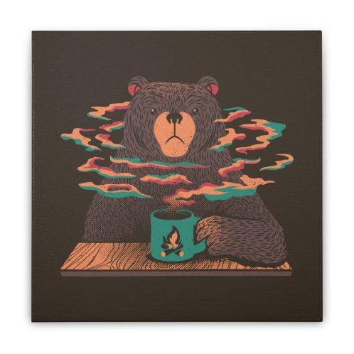 image for Bear Having Coffee I Love Coffee Green