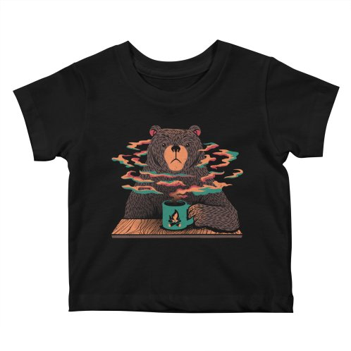 image for Bear Having Coffee I Love Coffee Green