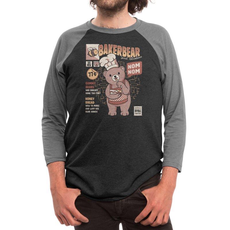 Bakery Bear Cooking Men's Longsleeve T-Shirt by Tobe Fonseca's Artist Shop
