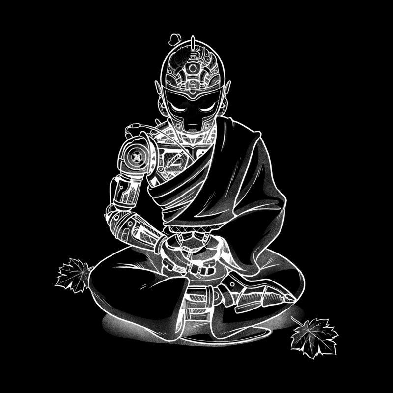 Meditation Robot Monk Minimalist Men's Socks by Tobe Fonseca's Artist Shop