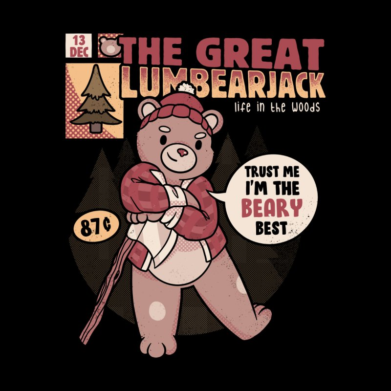 LumBearJack Hard Working Bear Forest Canadian Plaid Kids T-Shirt by Tobe Fonseca's Artist Shop