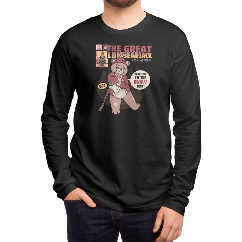 image for LumBearJack Hard Working Bear Forest Canadian Plaid