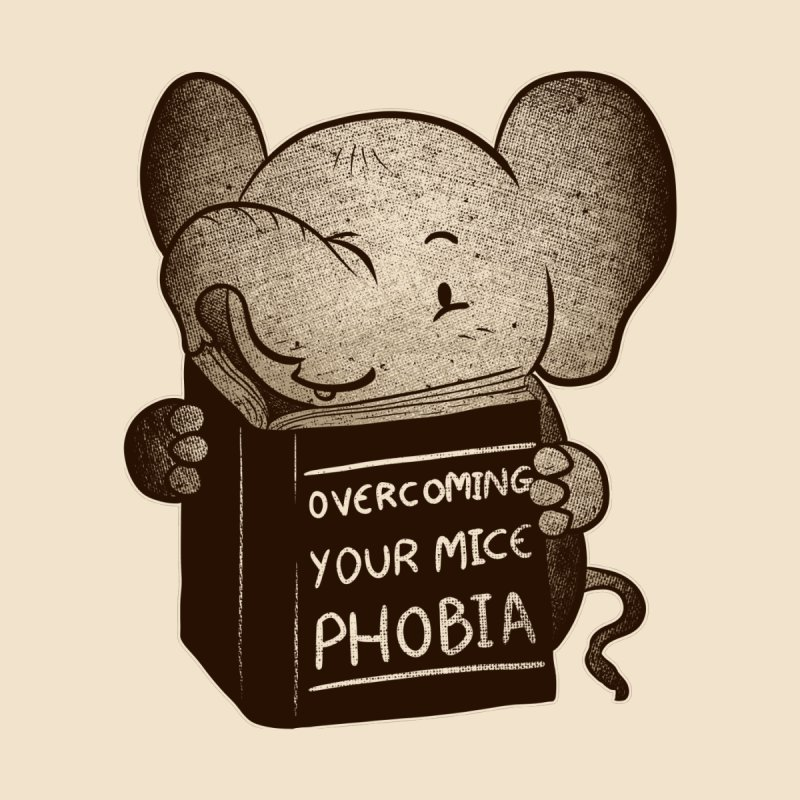 Elephant evercoming your mice phobia Women's Fitted T-Shirt by Tobe Fonseca's Artist Shop