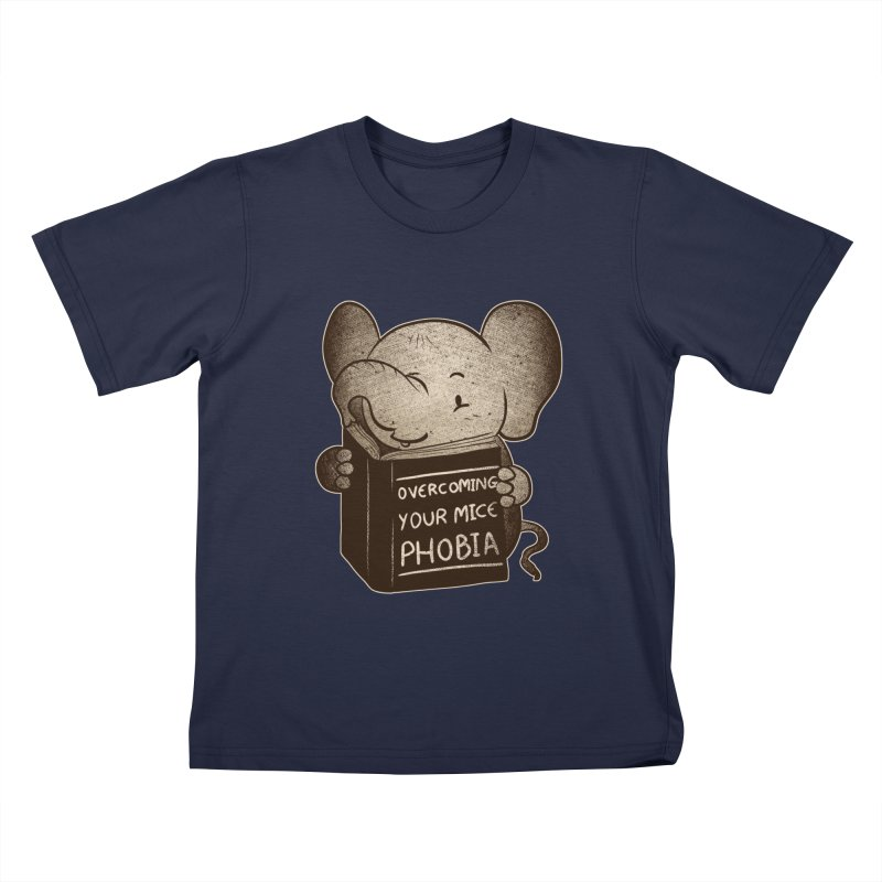 Elephant evercoming your mice phobia Kids T-shirt by Tobe Fonseca's Artist Shop