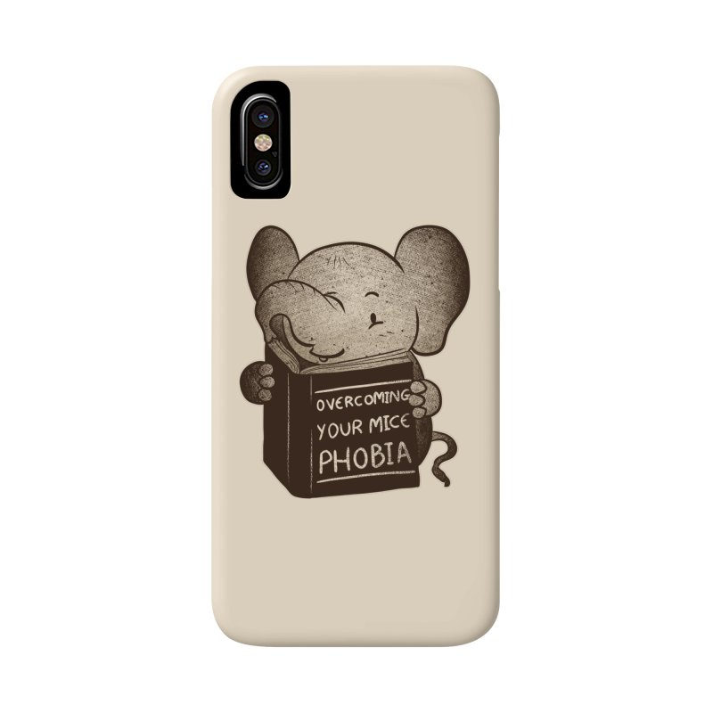 Elephant evercoming your mice phobia Accessories Phone Case by Tobe Fonseca's Artist Shop