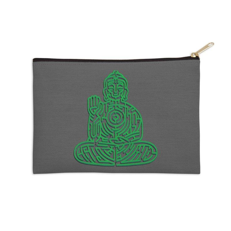 Zen Maze Meditation Accessories Zip Pouch by Tobe Fonseca's Artist Shop