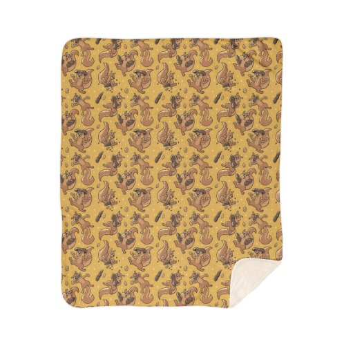 image for Pattern Peanut Cute Squirrels Yellow