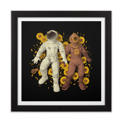 image for Astronaut Scuba Diving Holding Hands