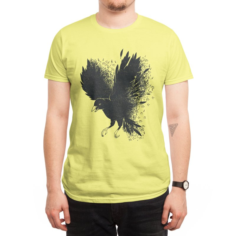 Melting Crow Musical Notes Men's T-Shirt by Tobe Fonseca's Artist Shop